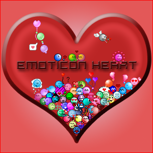emoticon heart project END by dutchie17
