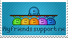 My friends support me stamp by Synfull