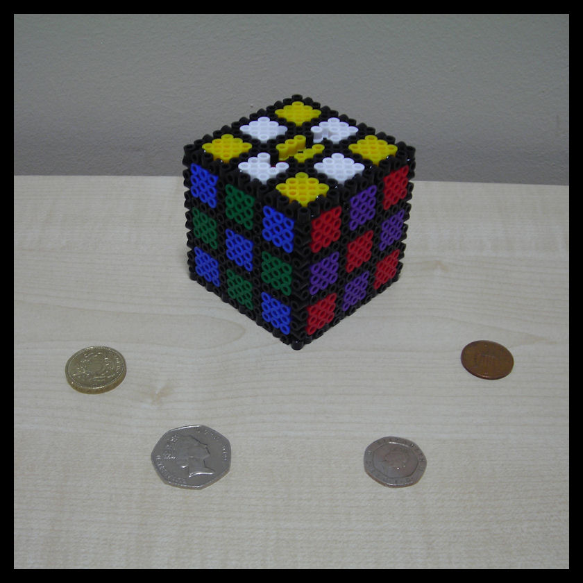 Beaded rubiks money box by synfull on deviantart for Awesome money box