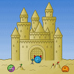 Sand castle building by Synfull