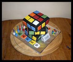 Rubik's cube cake by Synfull