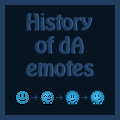 A (modern) history of deviantART emotes by Synfull