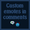 Using custom emotes in comments (Stash Sidebar) by Synfull