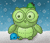 ESS 2013 - Adorable green owls by Synfull