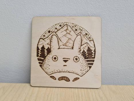 Totoro Pyrography