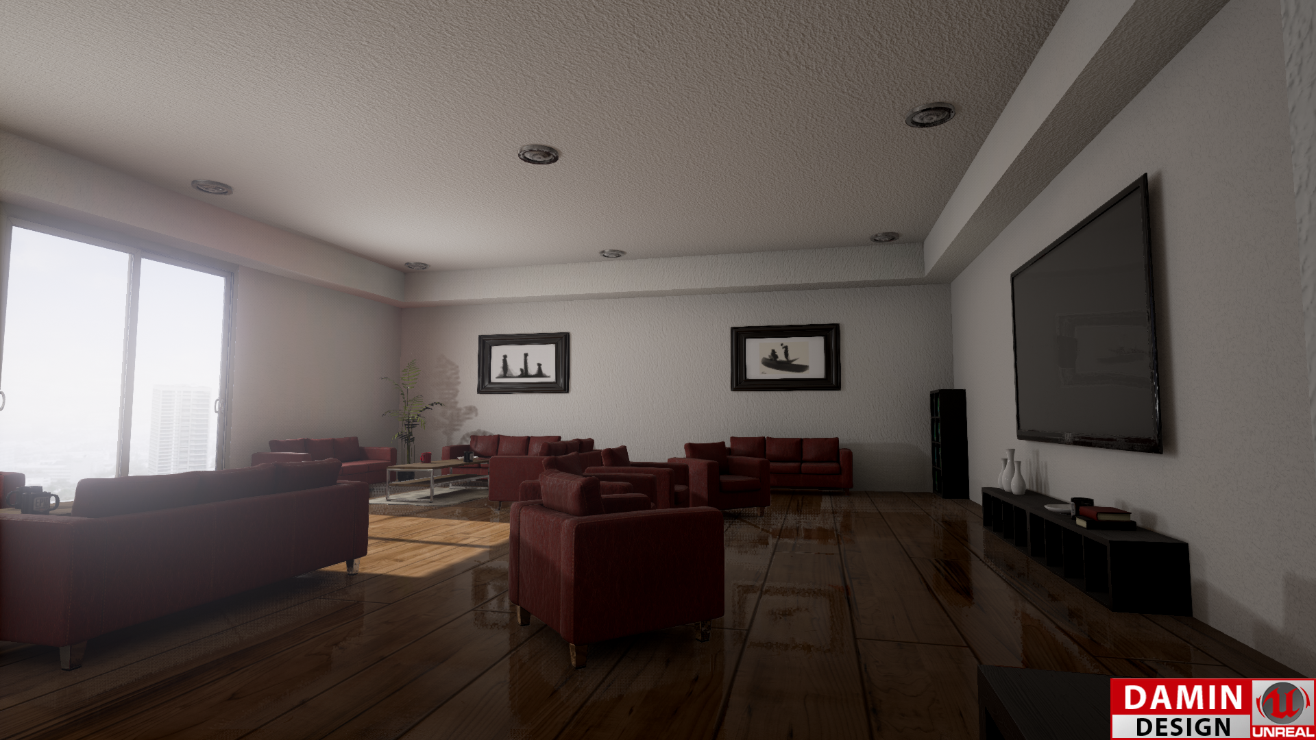 Unreal Engine 4 Watching Room by DaminDesign