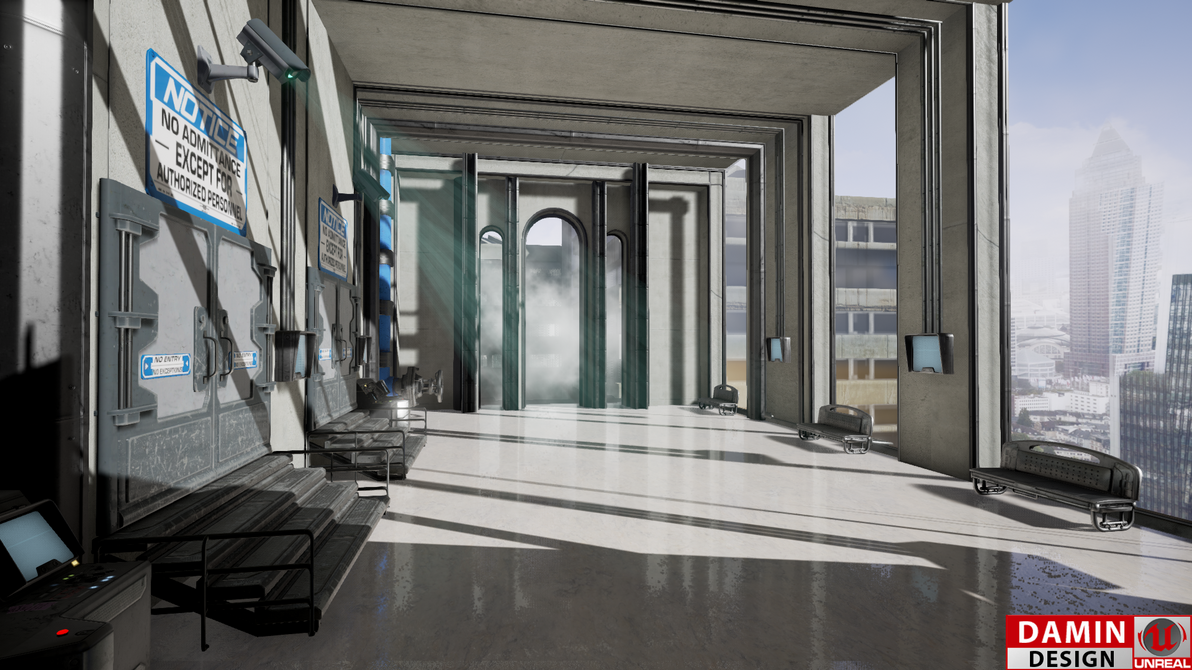 Unreal Engine 4 Modern City by DaminDesign