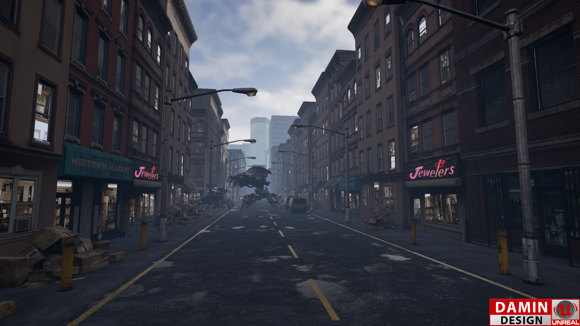 Unreal Engine 4 Defend The City 2 by DaminDesign