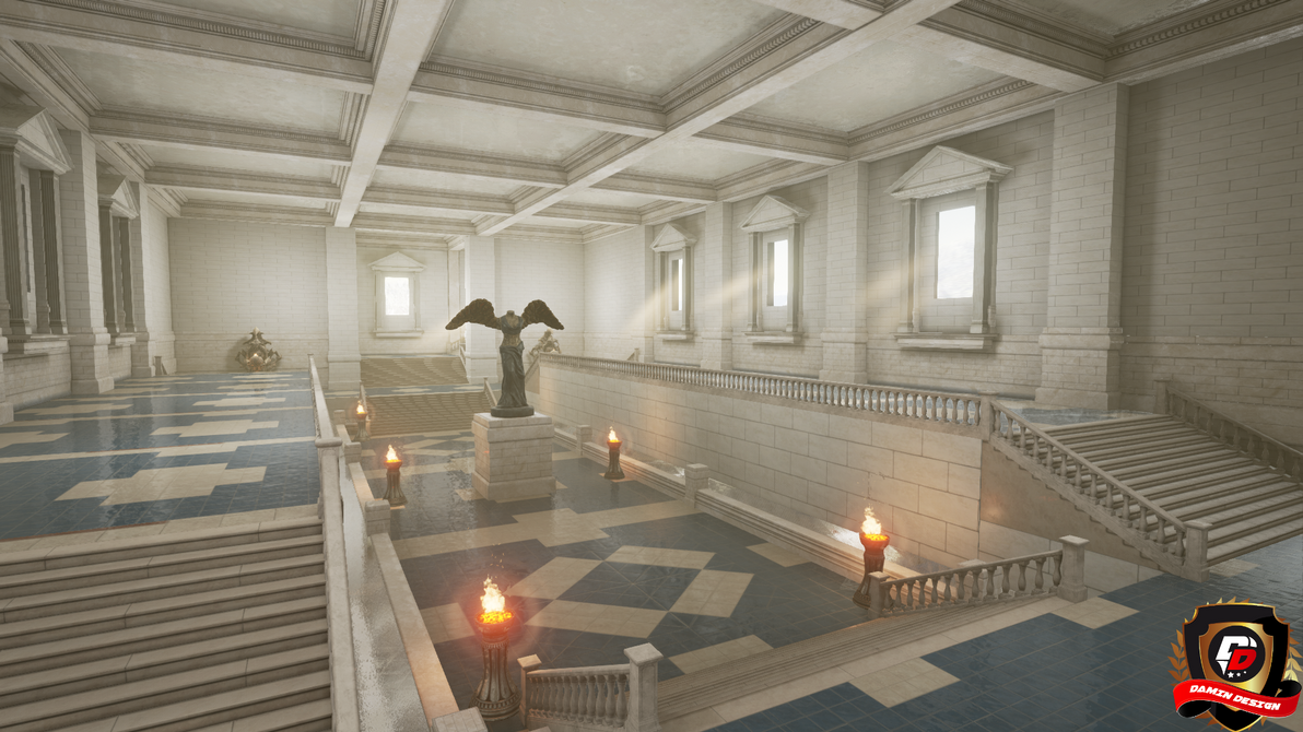 Unreal Engine 4 Ancient Chapel by DaminDesign