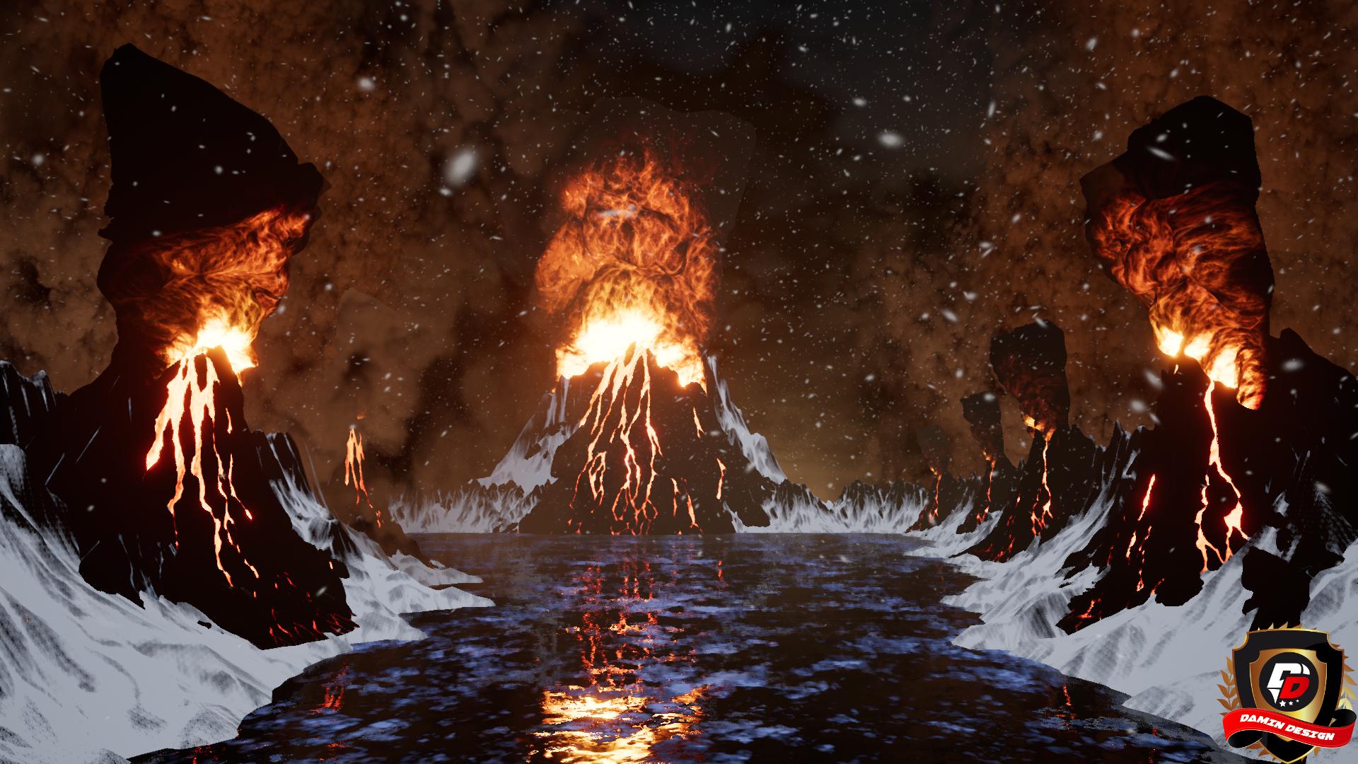 Unreal Engine 4 Volcano Eruption by DaminDesign