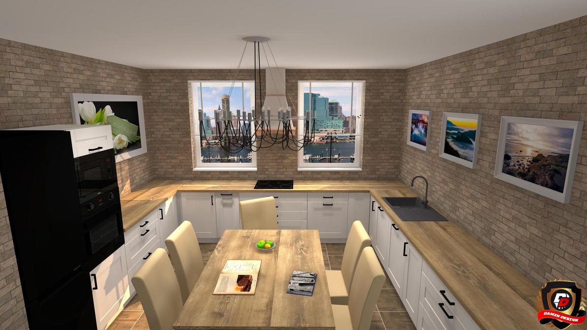 Modern Kitchen Version 3 by DaminDesign