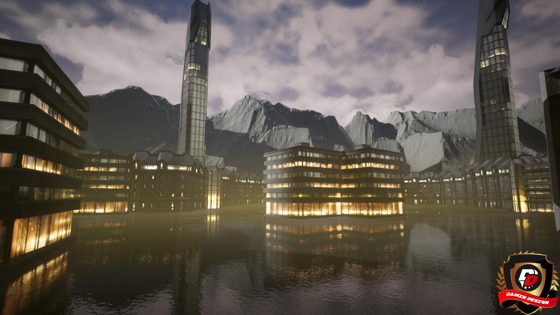 Unreal Engine 4 Dark City by DaminDesign