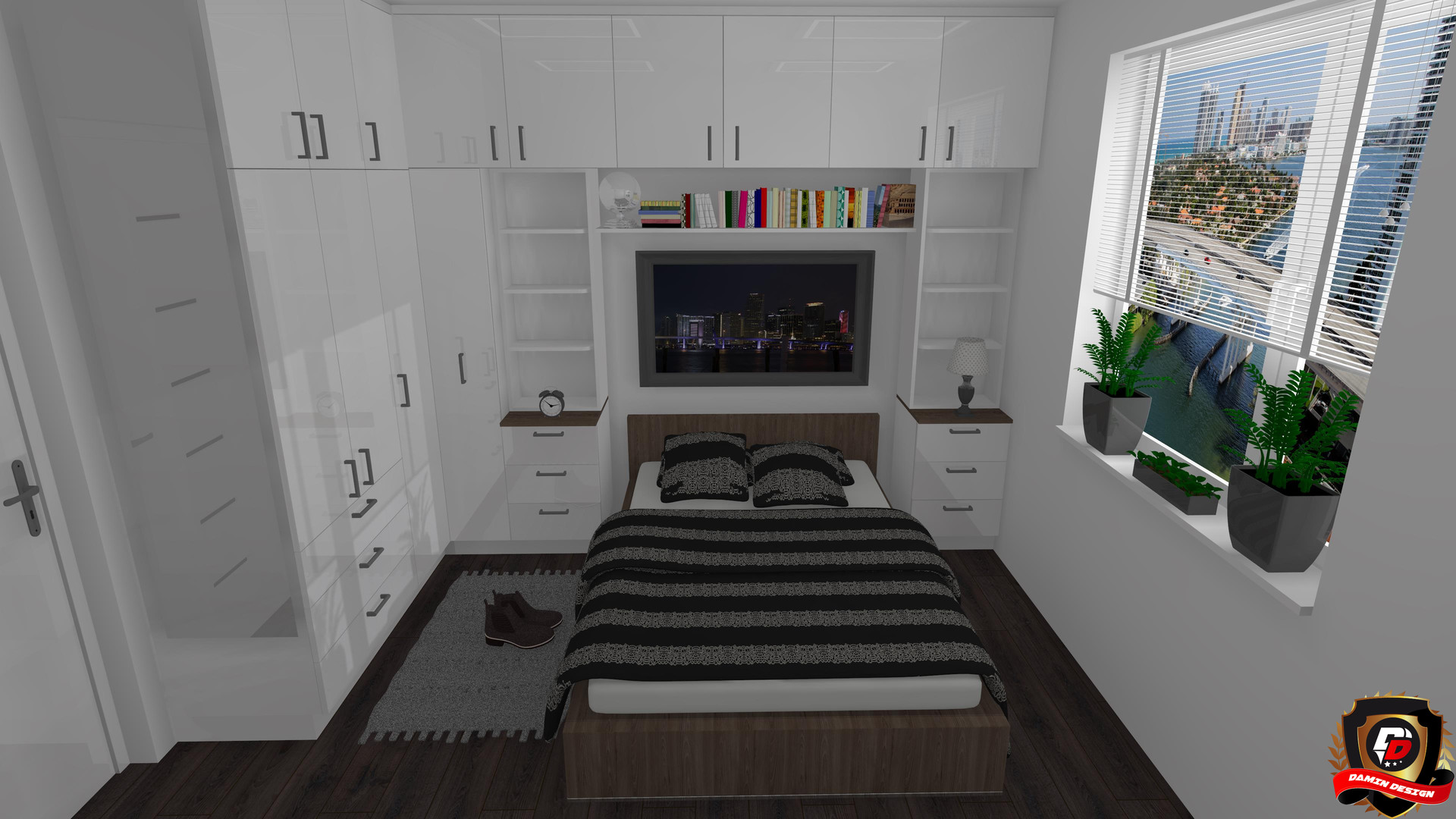 Small Functional Bedroom by DaminDesign