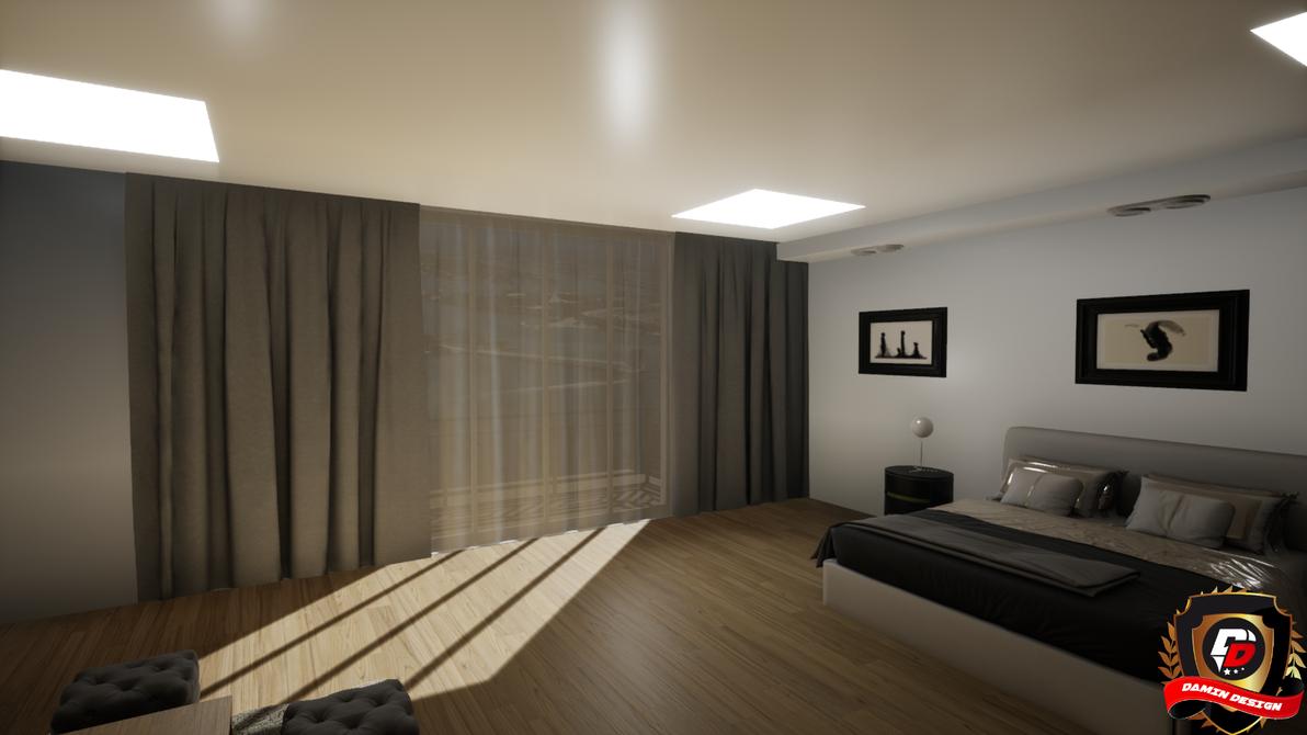 Unreal Engine 4 Modern Bedroom by DaminDesign