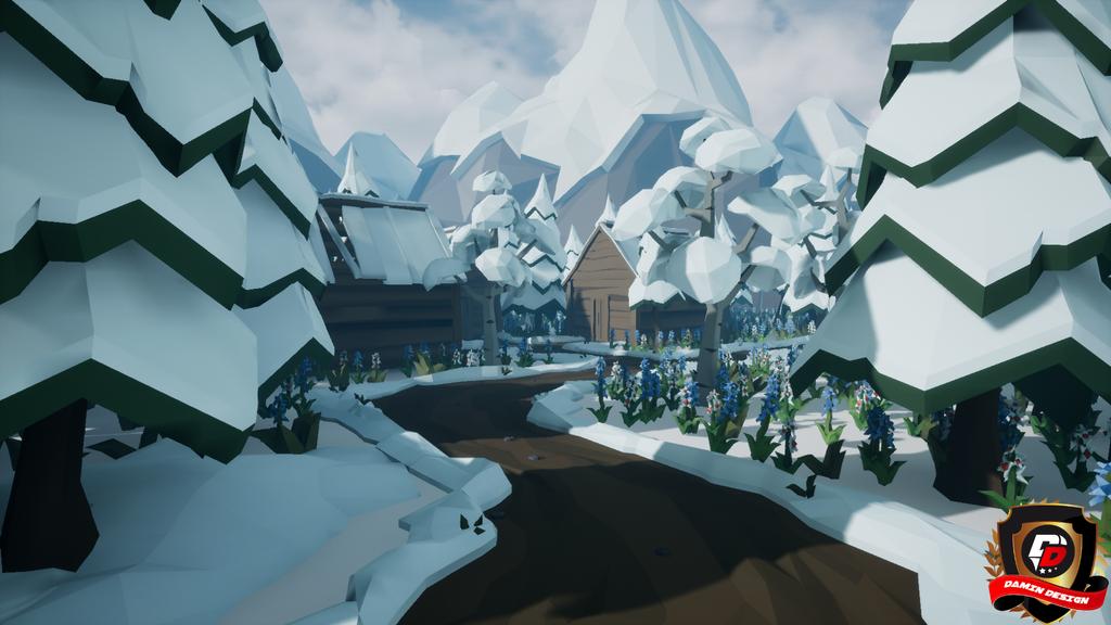 Unreal Engine 4 Snow Village by DaminDesign