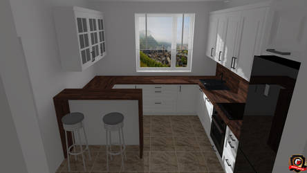 Modern Kitchen Version 9 by DaminDesign