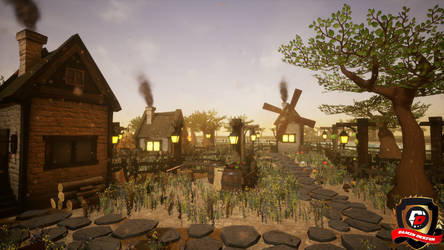 Unreal Engine 4 Small Village by DaminDesign