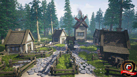 Unreal Engine 4 Small Village In The Forest