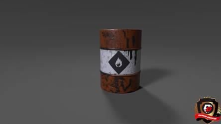 3ds max - Oil Barrel
