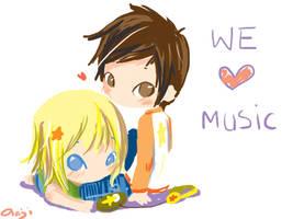 we love music by oranjisama