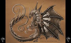 Pencil Dragon #07 by PandiiVan
