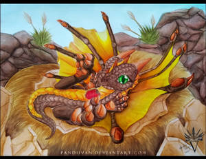 Commission: Watercolor Baby Dragon.