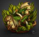 Satisfied Hazelnut Dragon in a Nutshell :3