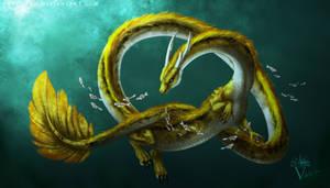 Gift for Neronai: The Golden Koi Dragon.