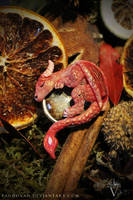 Sleepy Dragon Pendant #008 - the red one by PandiiVan