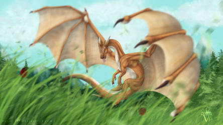 Commission: Los, the friendliest dragon.