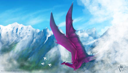 Commission: Ice Breather Dragon Yanka.