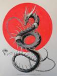Black Watercolor Dragon - Break Free
