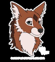Reward: Canine Headshot Sticker Kyon.