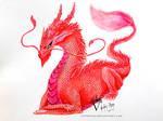 Reward: Red Watercolor Dragon / Drake