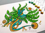 Dragon Hybrid Adopt 009 - Dandelion Dragon (CLOSE) by PandiiVan