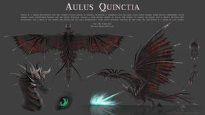 Commission: Wyvern Reference Sheet Aulus Quinctia