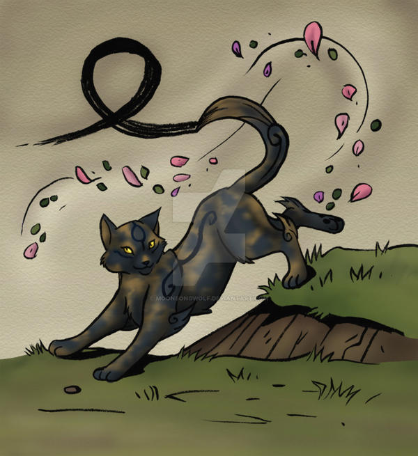 warrior cats coloring pages spottedleaf - photo#25