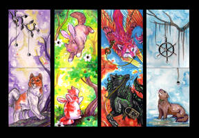 ACEO Cards: Four Seasons by MoonsongWolf