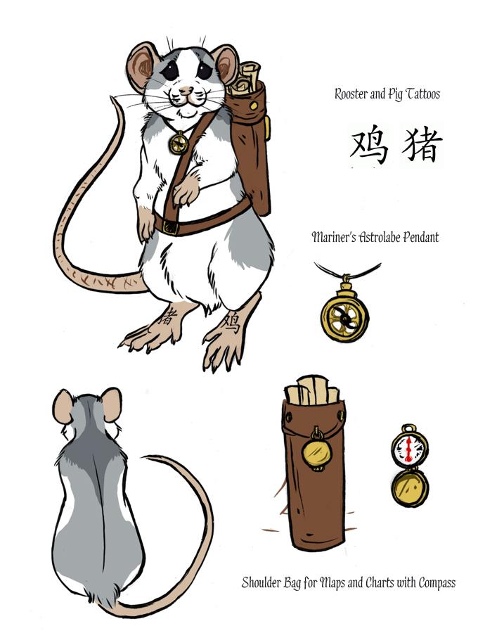 Nautical Rat by MoonsongWolf