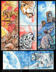 ACEO Cards: Lost Worlds