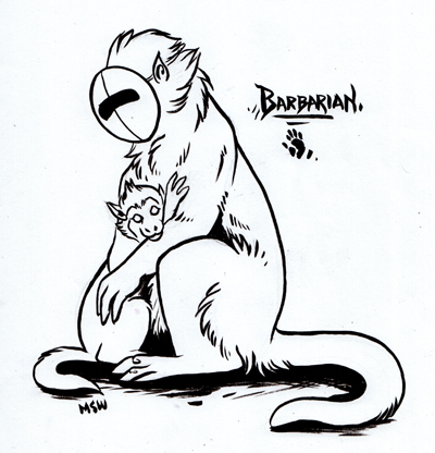 Vesperian Bestiary: Barbarian by MoonsongWolf