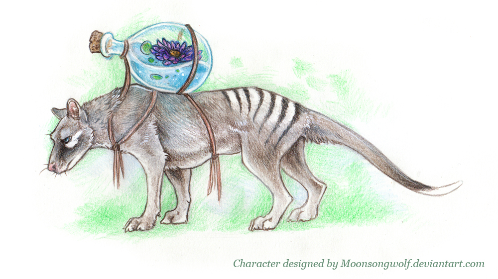 Custom Character  - Thylacine 'Lotus' by MoonsongWolf