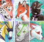ACEO Cards: Fur, Scale, and Feather