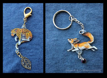 Keychains: African Hunters by MoonsongWolf