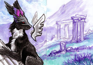ACEO: Master of the Ruins by MoonsongWolf