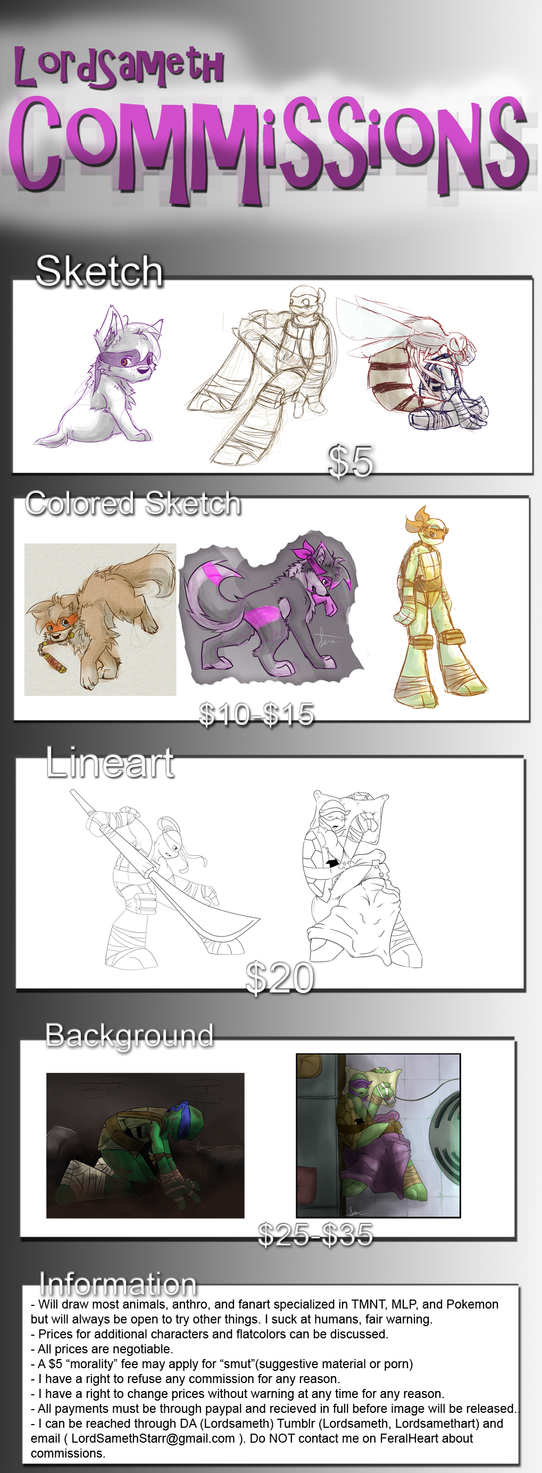 Commision Info + chance to win free art!