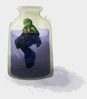 Leo in a bottle