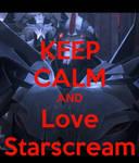 Keep calm and Love Starscream by KrystalBM