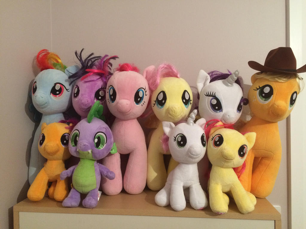 Build a Bear Mane 6, Spike and Crusaders by mlpbronypony