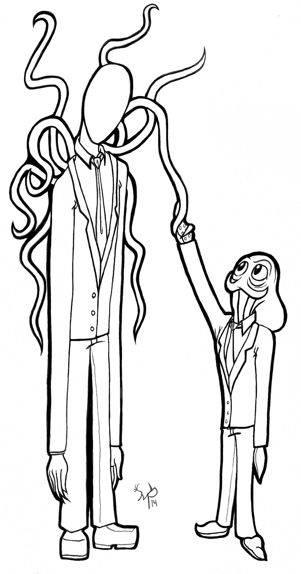 Hoodie creepypasta coloring coloring coloring pages for Slender man coloring pages